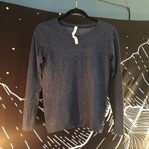 Lululemon very thin blue long sleeve shirt